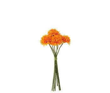 J-Line Bouquet Boule Mum Plastique Orange