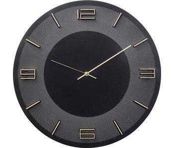 KARE design Wandklok Leonardo zwart/goud