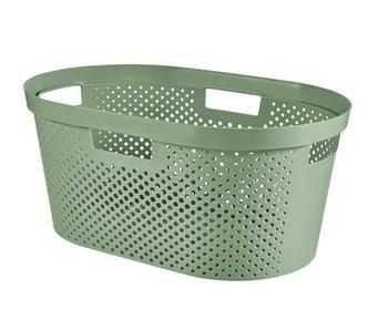 Panier à linge INFINITY Dots 40 L - vert - 58x38xh26.5cm