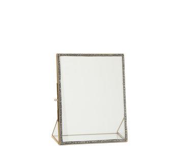 J-Line Fotokader Juweel Metaal/Glas Goud Large