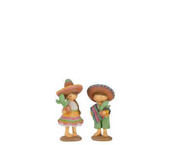 J-Line Mexicaan Cactus Poly Mix Assortiment Van 2