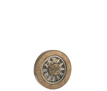 J-Line Horloge Intérieur Mdf Or Antique