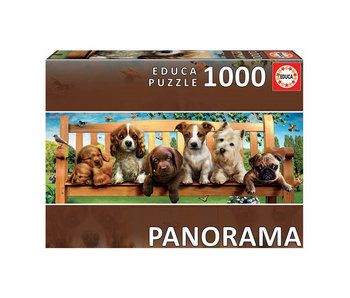 Educa Puzzel Educa Puppy's op de bank - 1000 stukjes