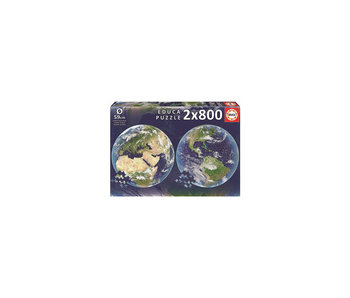 Educa Puzzle Educa Circle planète terre - 2x 800 pièces