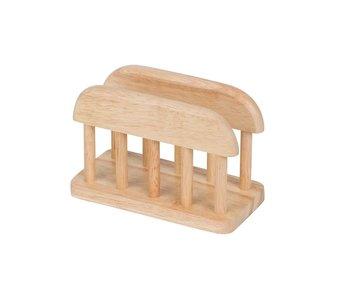 Houder in hout voor planken-servietten 15x7.5xh10 cm