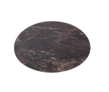 Placemat marmer look zwart rond 38 cm