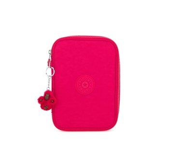 Kipling 100 pens True Pink  - 21x15x5cm - pennenzak