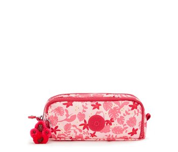 Kipling Gitroy Feuilles Roses - 10x23x7 cm - trousse