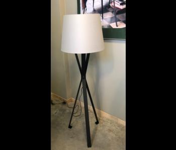 Berretto vloerlamp matt zwart 48x154 cm