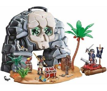 PLAYMOBIL 70113 - Take Along Pirate Skull Island