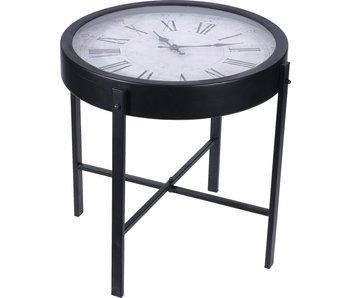 Ronde koffie tafel met klok - 40 cm