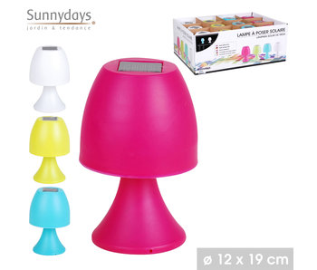 Lampe solaire - h19cm - rose