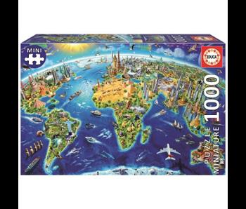 Educa Puzzle Educa symboles du monde 46x30cm - 1000 pièces