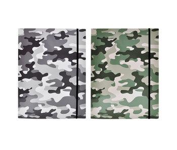 Elastomap - Grijs Camouflage  - A4