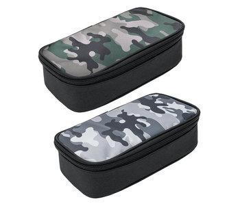 Etui grijs - 24x12 cm Camouflage
