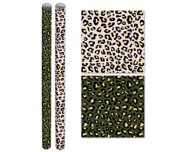 Kaftpapier  - Stay Wild - 1 rol groen