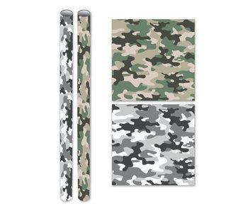 Kaftpapier 2mx70cm - grijs Camouflage