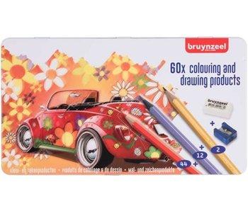 Bruynzeel Super Sixties 60 Crayons de Couleur