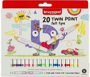 Feutres Bruynzeel : 20 pièces twin pointe
