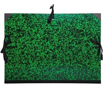 Exacompta: tekenmap met linten 32x45 cm voor A3 - groen