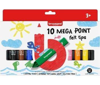 Bruynzeel viltstiften Megapoint 10st