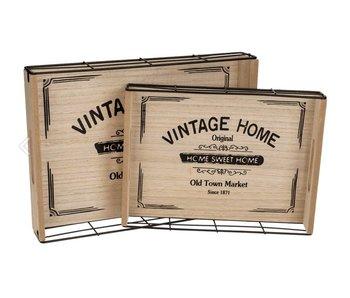 Vintage Home dienblad L - 34x24.8cm