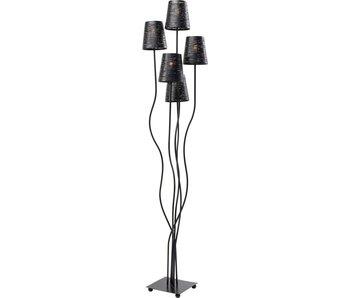 KARE design Vloerlamp 5 staven - flexibel