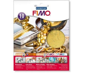 Fimo Bladmetaal Goud - 10 vellen
