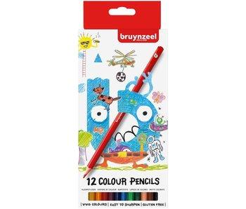 Crayons de couleur Bruynzeel 12 pcs dans une pochette en carton