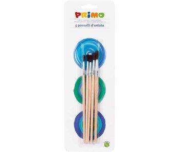 """Primo: penselen """"Artist"""" set van 5 ronde penselen"""