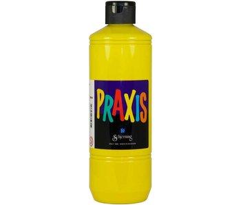 Verf Praxis 500ml - geel