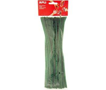 Apli crea fil chenille vert 30cmx5cm