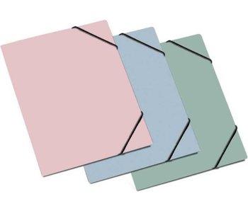 Elastomap A4 Nordik met 3 kleppen pastel blauw
