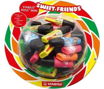 "Stabilo: overlijner ""Boss mini""-sweet friends geel"