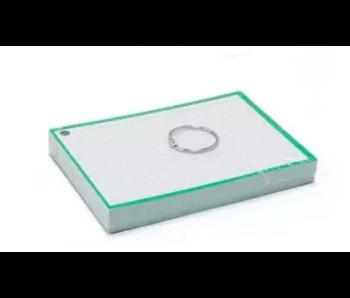 Flashcards A6 - groen + ring / 14.8x10.5cm