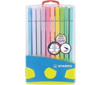 Pen 68 pastelparade 20 pcs - box blauw
