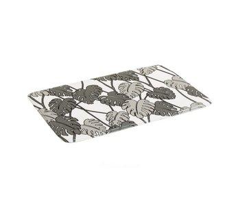 Tapis de bain feuille gris 69x45 cm