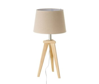 Tafellamp hout 27x27x55.5 cm