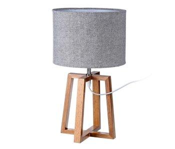 Lamp  Hévéa 25x25x44h cm