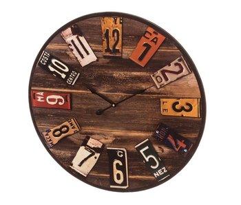 Horloge murale MDF dia 60 cm