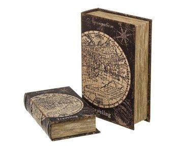 Set van 2 boeken 18x7x27 cm - opbergbox