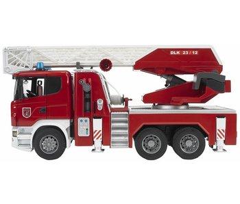 Bruder 03590 - Camion de pompier SCANIA avec pompe à eau et module lumineux et sonore