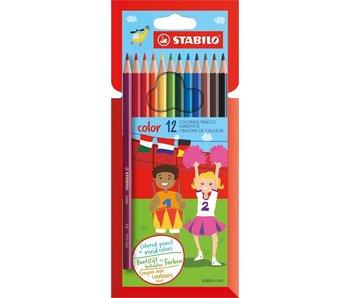 Portefeuille crayon de couleur Stabilo 12 pcs