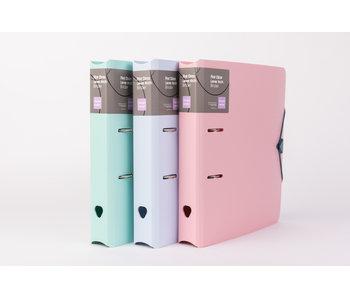 Classeur mousse pp 50 mm - 3 couleurs pastel assorties