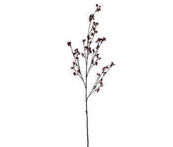 Branche Baies Plastique Rouge/Marron Grand