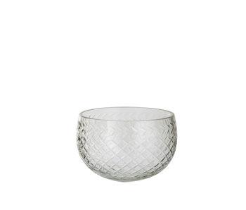 Schaal Rond Decoratief Geslepen Glas Transparant