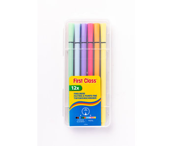 Fineliners pastelkleuren 0.4mm 12 stuks