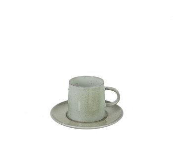 Tas+Bord Spikkel Porselein Munt