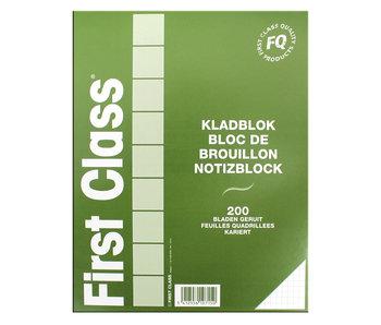 Bloc-notes 210X270m à carreaux 200 feuilles