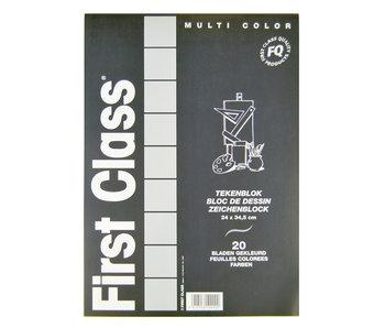 Bloc à Dessin 240x345 20 Feuilles Colorées FC